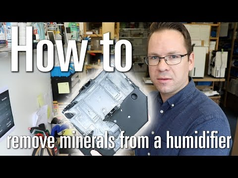 How to remove minerals / calc / limescale from a humidifier