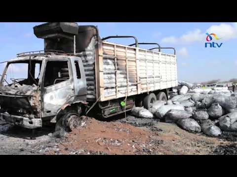 Youth block highway in Limuru over lorry burning in Kitui