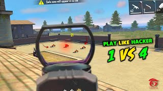 Best Solo vs Squad Play Like Hacker Gameplay Moment - Garena Free Fire