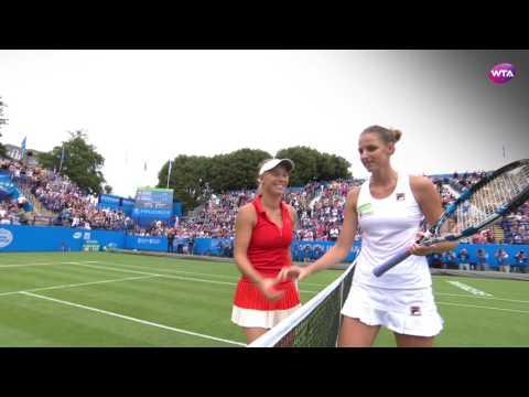 2017 Aegon International Final Championship Point | Karolina Pliskova vs Caroline Wozniacki