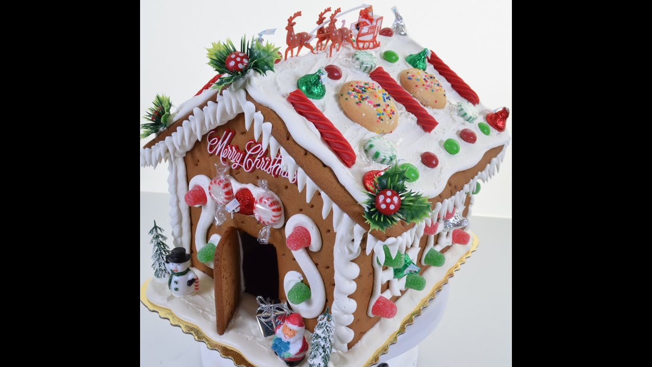 How to make Gingerbread House - Creating Gingerbread with Royal ...