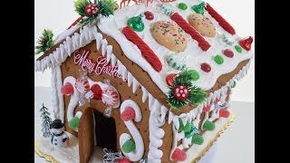 How to make Gingerbread House - Creating Gingerbread with Royal Icing