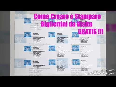 Tutorial: Come Creare E Stampare Bigliettini Da Visita Gratis!!! 😎