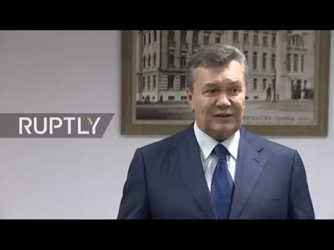 LIVE: Yanukovich holds press conference after testifying in court was postponed
