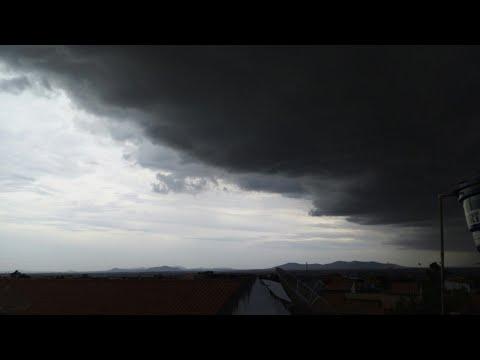 SHELFCLOUD Apocalíptica Moment Antes da Tempestade Em Palmeira Dos Índios alagoas Brasil 22/01/2020.