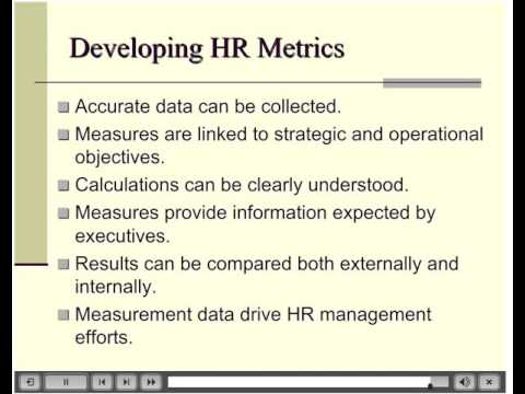 Hr Metrics And Measuring Effectiveness  Youtube