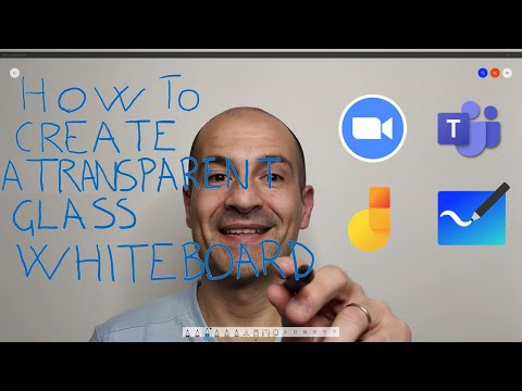 🔳 How to create a transparent Whiteboard in OBS to use in Teams Zoom or Webex