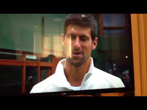 Novak Djokovic meets with Nemanja Vidic 2013