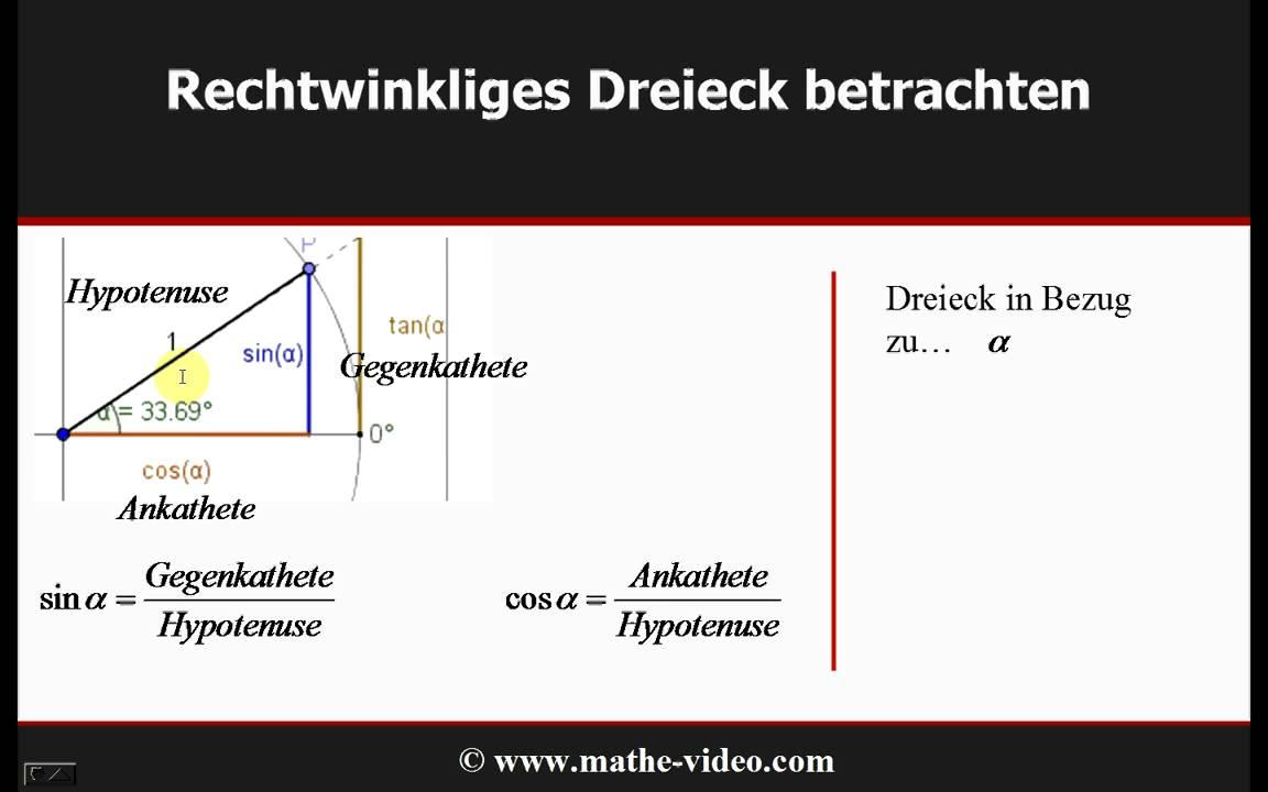 trigonometrie 1 einf hrung sinus cosinus tangens youtube. Black Bedroom Furniture Sets. Home Design Ideas
