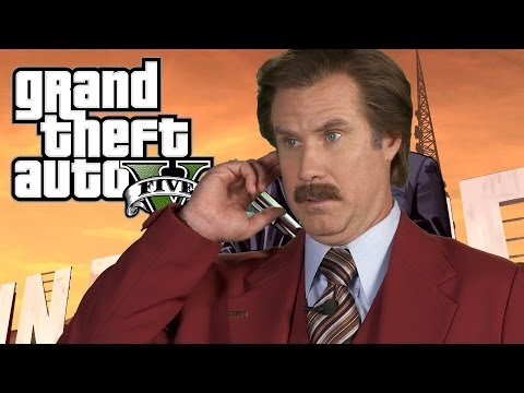 Anchorman 2's Ron Burgundy on GTA 5