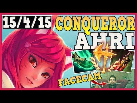 *NEW* CONQUEROR REWORK AHRI + SPEAR OF SHOJIN!   FIRST TIME FACECAM!!!!!