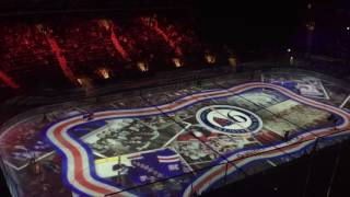 Madison Square Garden - Chase Bridge View - New York Rangers Intro Ice Animation & Skate Out