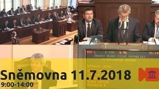 Sněmovna 11.7.2018 (1/6) - Důvěra vládě 9h-14h