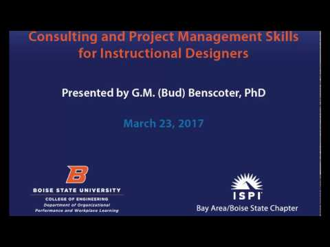 Consulting and Project Management Skills for Instructional Designers