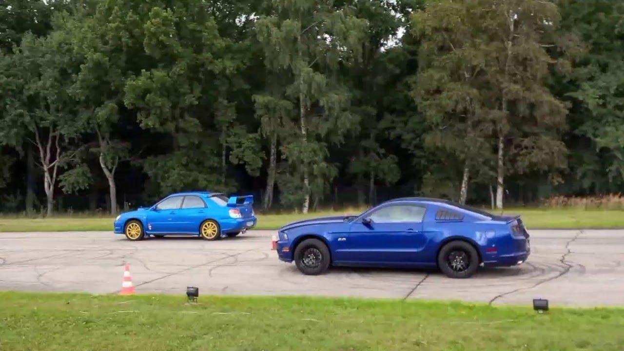 Ford Mustang 5 0 Vs Subaru Impreza Wrx Sti