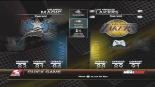 NBA 2k10 walkthrough menu ***Real Gameplay Footage*** Xbox 360