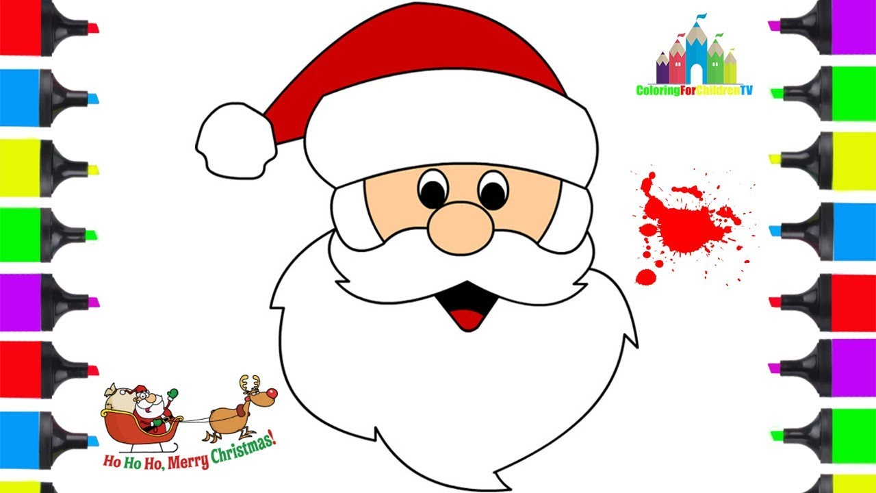 how to draw santa clause face easy  coloring pages