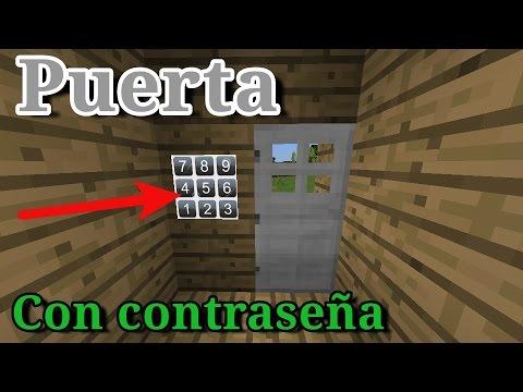 Como hacer una puerta con contraseña | Minecraft PE *Leer descripción*