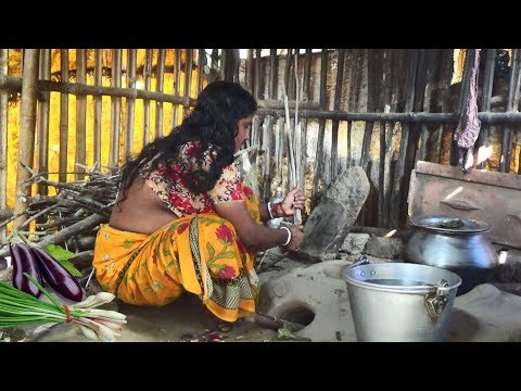 Village Women Cooking ||Delicious Spring Onion Fried ||Indian Rural Women