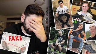 WHICH YOUTUBERS HAVE FAKE YEEZYS!! *EXPOSED*