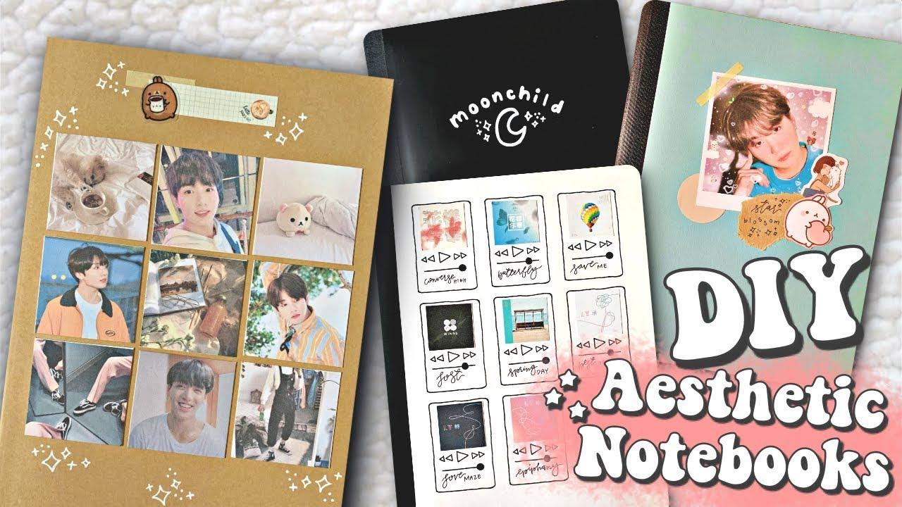 DIY Aesthetic KPOP Notebooks (BTS EDITION) - YouTube