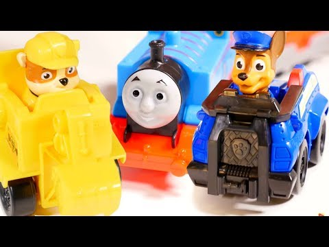 Thumbnail: 🐶 Paw Patrol toys and🚂 Thomas the train. Toy train videos & toy videos. Toy railways for toy train