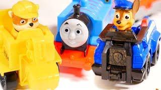 🐶 Paw Patrol toys and🚂 Thomas the train. Toy train videos & toy videos. Toy railways for toy train thumbnail