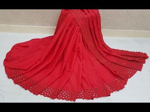 popular-plain-silk-saree-with-cut-works-border-||-raw-silk-sarees-latest-collections