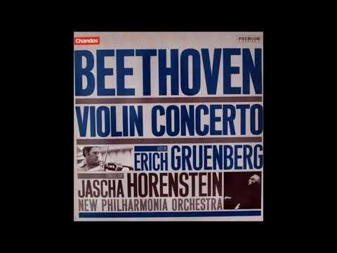 """Beethoven """"Violin Concerto"""" Erich Gruenberg/Jascha Horenstein"""