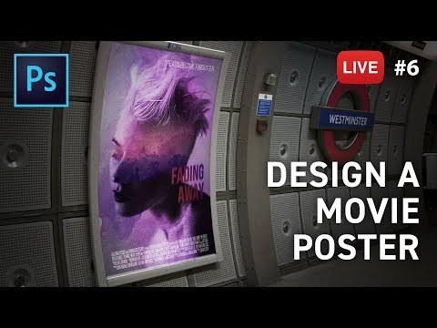 Let's design a Movie Poster - LIVE stream #6