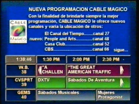 Programación de Cable Mágico - Perú 1997