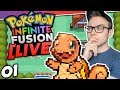 FUSING OUR STARTER POKEMON?! Pokemon Infinite Fusion LIVE Part 01 w/HDvee