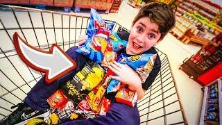 como fazer uma criança feliz no super mercado...