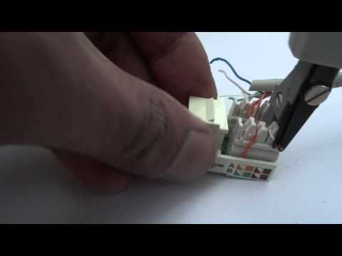 How To Use An IDC Insertion Tool On A RJ45 Keystone Jack