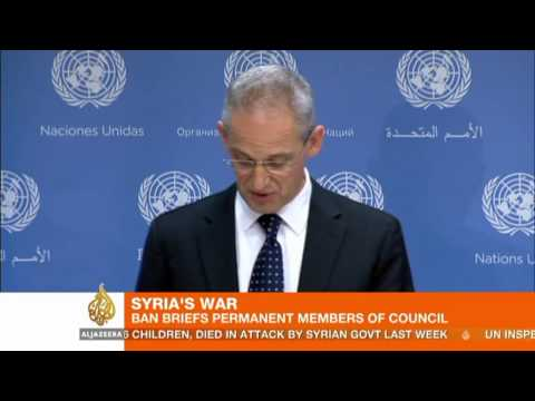 Ban Ki-moon briefs UN Security Council on Syria