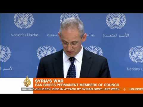 Ban Ki-moon briefs UN Security Council on Syria