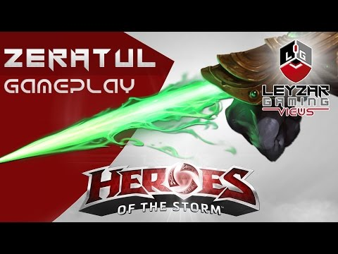 Heroes of the Storm (Gameplay) - Zeratul Full Basic Attack Monster Build (HotS Quick Match)
