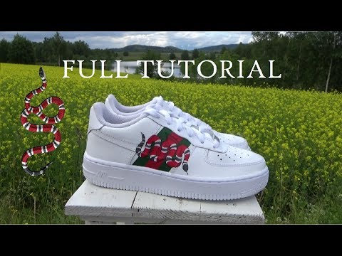 "FULL CUSTOM TUTORIAL ""Gucci Snake"" AF1 LOW"