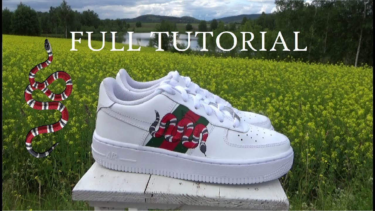 Full Custom Tutorial Gucci Snake Af1 Low Youtube