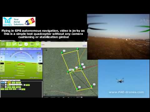 Arducopter 2.9.1 quadcopter drone autonomous gps navigation on waypoints with telemetry and MP