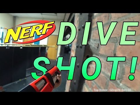 CQB Nerf Gameplay #59 - Dive Shot! [3D Printed Nerf Shotgun]