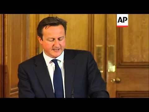 Prime Minister David Cameron hosts Francois Hollande