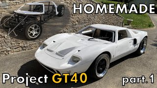 TIMELAPS - Homemade Car Project in 9 minutes - GT40 [part 1]