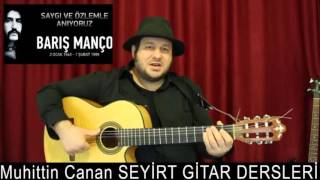 Dağlar Dağlar - Barış Manço - Gitar Dersi ( pratik gitar kursu )