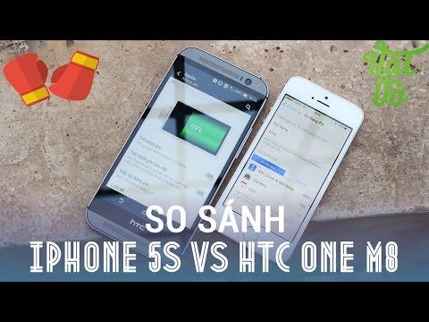 [Review dạo] So sánh chi tiết HTC One M8 và iPhone 5s
