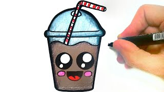 HOW TO DRAW A CUTE MILK SHAKE