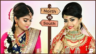 BEAUTY BATTLE - North Indian vs South Indian Makeup | Step By Step Tutorial | Anaysa