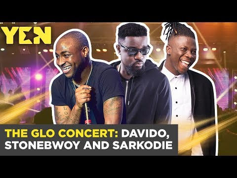 Ghana News Today: Musical Performances at the Glo Concert: Davido, Stonebwoy and Sarkodie Yen.com.gh