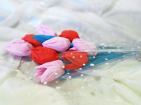 букет из конфет своими руками в корзине фото