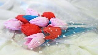 Букет из конфет своими руками для начинающих: пошаговое фото